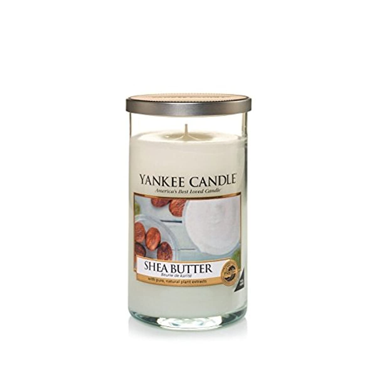 Yankee Candles Medium Pillar Candle - Shea Butter (Pack of 2) - ヤンキーキャンドルメディアピラーキャンドル - シアバター (x2) [並行輸入品]