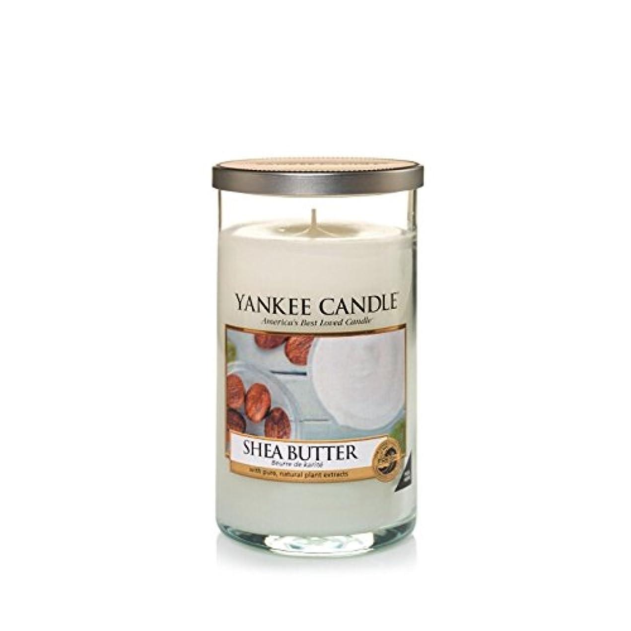 かごステンレス故国Yankee Candles Medium Pillar Candle - Shea Butter (Pack of 2) - ヤンキーキャンドルメディアピラーキャンドル - シアバター (x2) [並行輸入品]