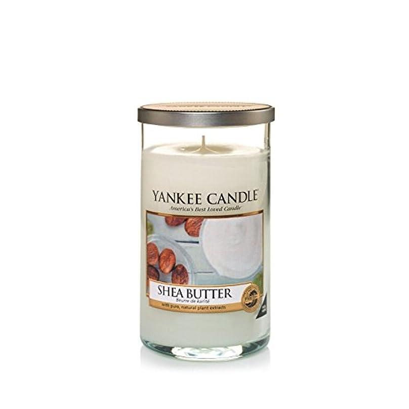 硬いネクタイバンドルヤンキーキャンドルメディアピラーキャンドル - シアバター - Yankee Candles Medium Pillar Candle - Shea Butter (Yankee Candles) [並行輸入品]