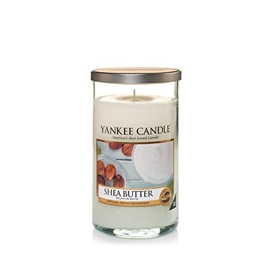 褐色私たちの経験的Yankee Candles Medium Pillar Candle - Shea Butter (Pack of 2) - ヤンキーキャンドルメディアピラーキャンドル - シアバター (x2) [並行輸入品]