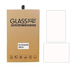 Nintendo 2DS LL フィルム-HEYSTOP 任天堂 2DS LL ガラス フィルム-強化保護ガラス newニンテンドー2ds ll 液晶保護フィルム 高精細 ラウンドエッジ加工 自動吸着 クリスタル透明度 9H硬度 ガラス飛散防止 指紋防止 気泡ゼロ