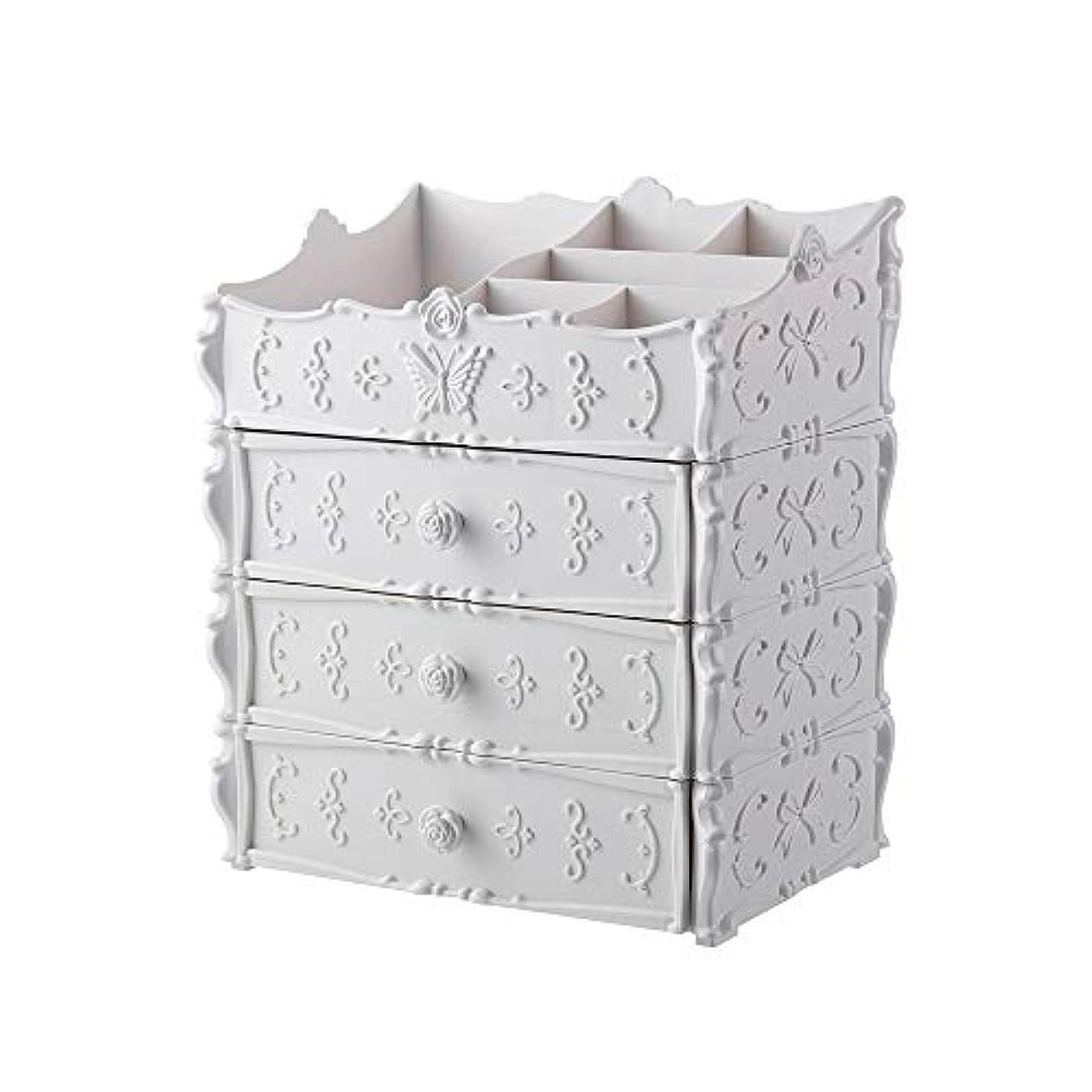 収納ボックス 化粧品収納 メイクボックス コスメボックス 引き出し式 北欧風 キッズ 少女 ホワイト ピンク 可愛い 2層 3層 透明 防水 大容量 小物入り 化粧台 プレゼント 家用