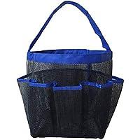 TOPBATHY Hanging Mesh Shower Caddy 8-Pocket Bathroom Storage Basket Shower Organiser for Shampoo Conditioner Soap