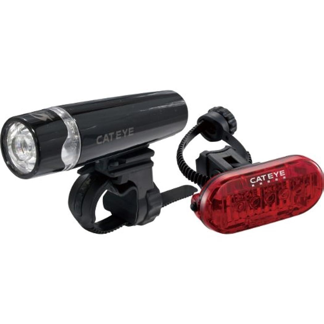 歌ポーン消化キャットアイ(CAT EYE) ライトセット [UNO+OMINI5 set] HL-EL010/TL-LD155-R 安全前後ライトキット