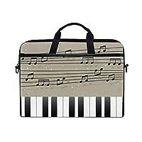 XINGAKA ノートパソコンケース ノートパソコンバッグ 3way レディース 学生 メンズ 音楽 音符 ピアノ 15インチ対応 耐衝撃 ショルダー 手提げ