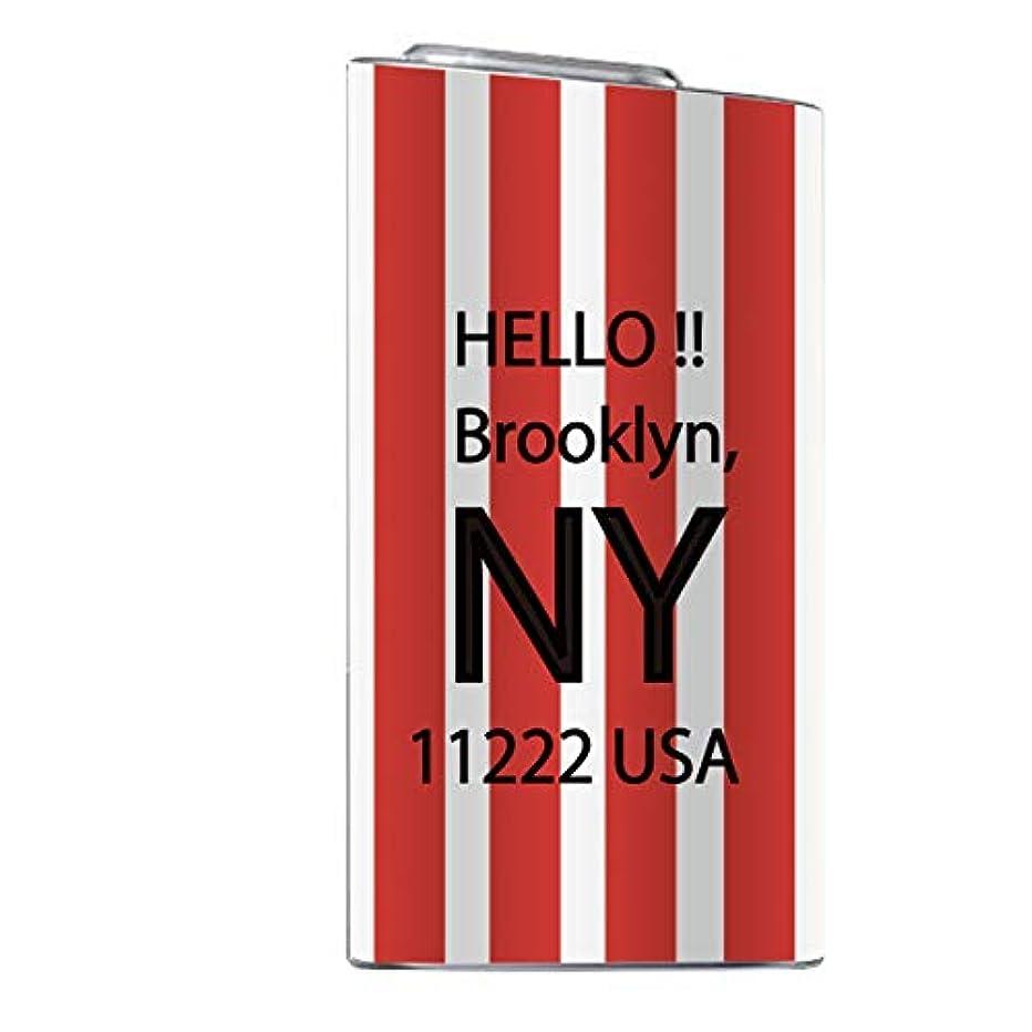 極貧冒険者名誉glo スキンシール 【 glo専用 】 海外 デザイン NEWYORK 西海岸 オシャレ アメリカ star ボーダー glo グロー 全面対応
