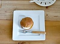 K'sキッチン 洋食器 スクエア リムプレート 17.8cm 中皿 日本製 アウトレット 白磁 白い食器 ホテル食器 レストラン食器 プレート リム付き デザート皿 パン皿 サラダ皿 取り皿 角皿 正方形 四角 おしゃれ シンプル カフェ 業務用