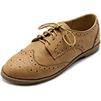 Ollio Womens M2921 Oxford Flats