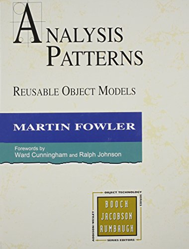 Download Analysis Patterns: Reusable Object Models (Addison-Wesley Object Technology Series) 0201895420