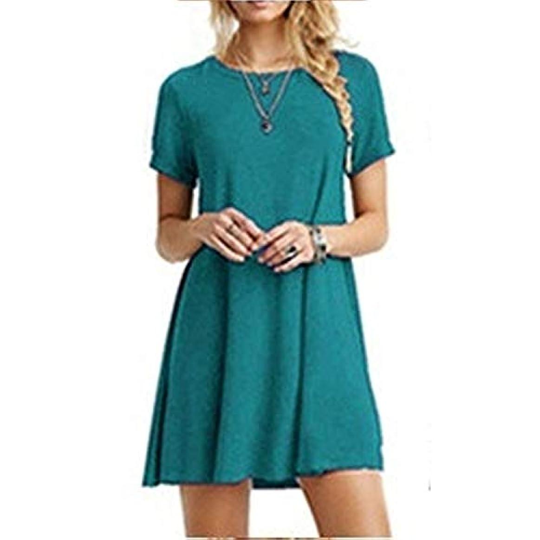 フローティングレンド手入れMIFAN女性のファッション、カジュアル、ドレス、シャツ、コットン、半袖、無地、ミニ、ビーチドレス、プラスサイズのドレス