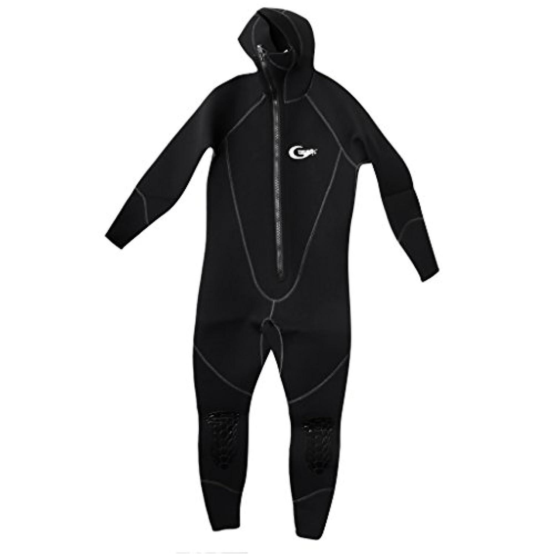 Fenteer 5mmネオプレン メンズ ウェットスーツ サーフィン 水中 スキューバ ダイビング用 長袖 ラッシュガード 全2サイズ