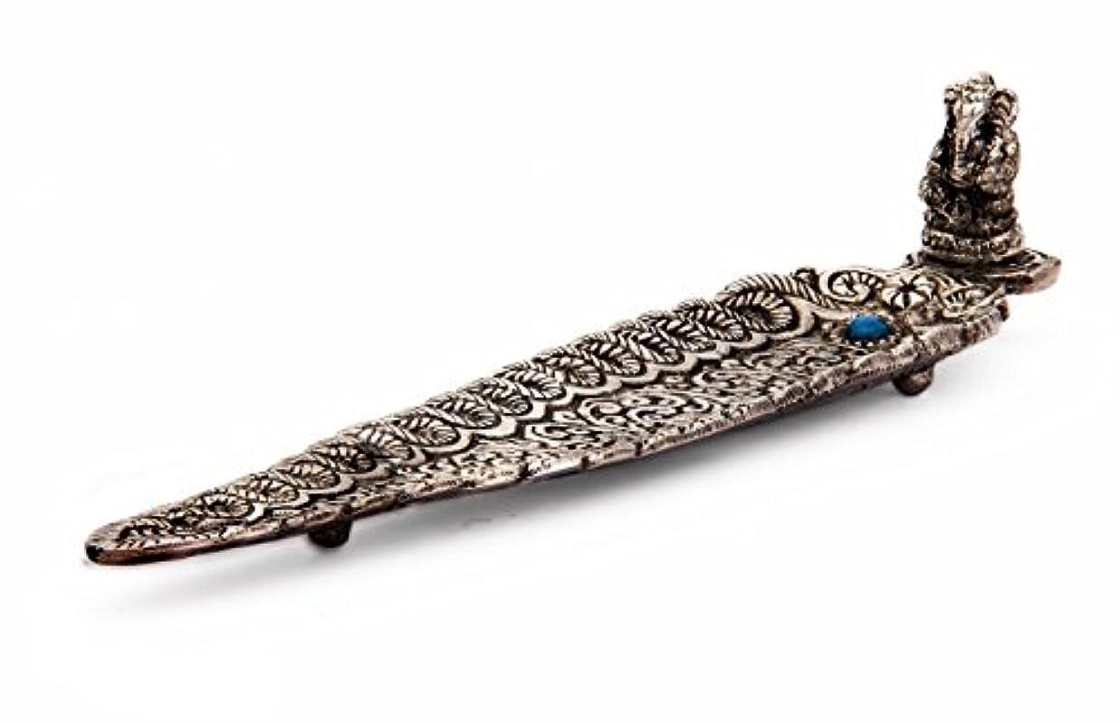 耐えられないおとなしい侵入するPetal Shaped Royal Silver Incense Stick Burner