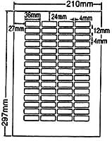 LDW60 O-2 OAラベル ナナワード (36×12mm 60面付け A4判) 2梱(レーザー、インクジェットプリンタ用。上質紙ラベル)マルチタイプ