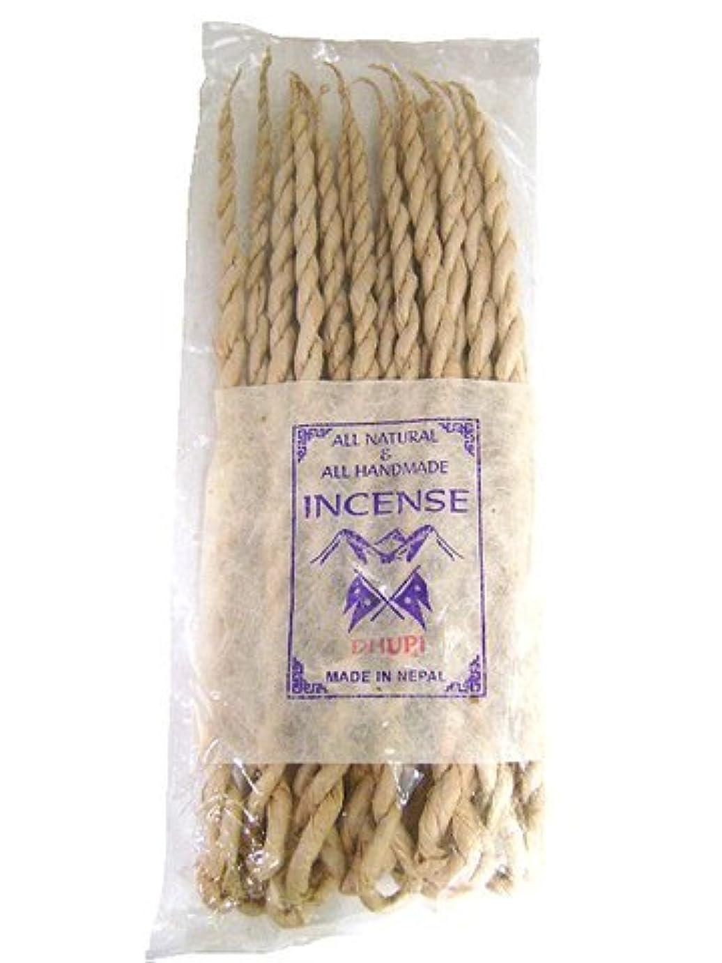 薬剤師編集者速度NEPAL INCENSE 日本では当店でのみ販売 ネパールの高級ねじり香(ロープ) ドゥピ