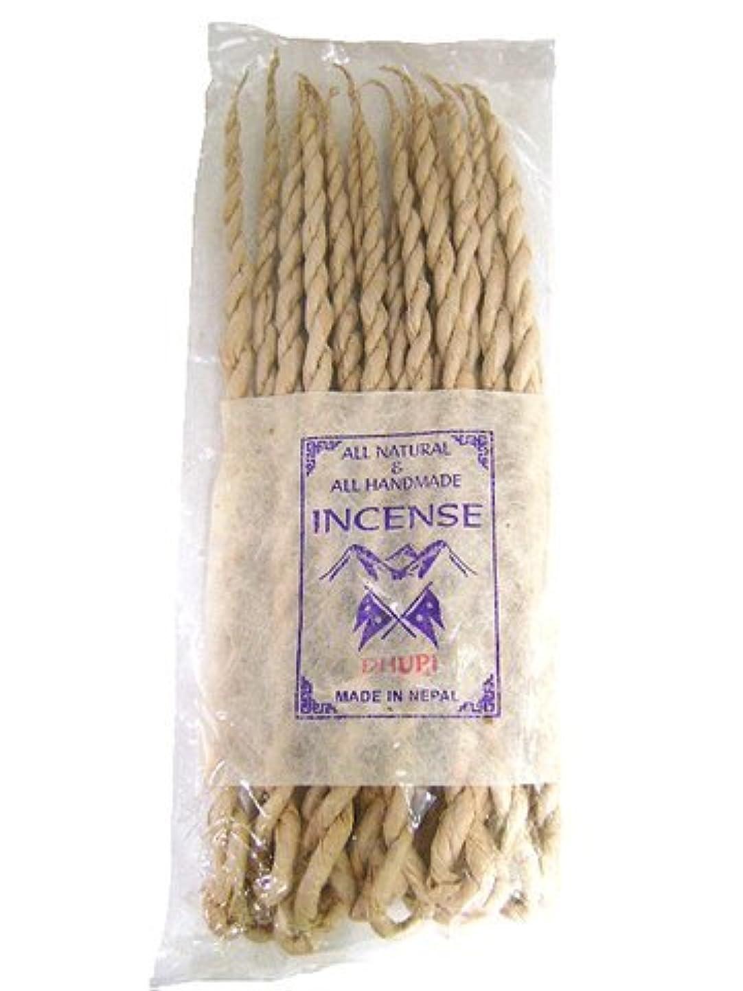 ファイバ衝突コース確立NEPAL INCENSE 日本では当店でのみ販売 ネパールの高級ねじり香(ロープ) ドゥピ