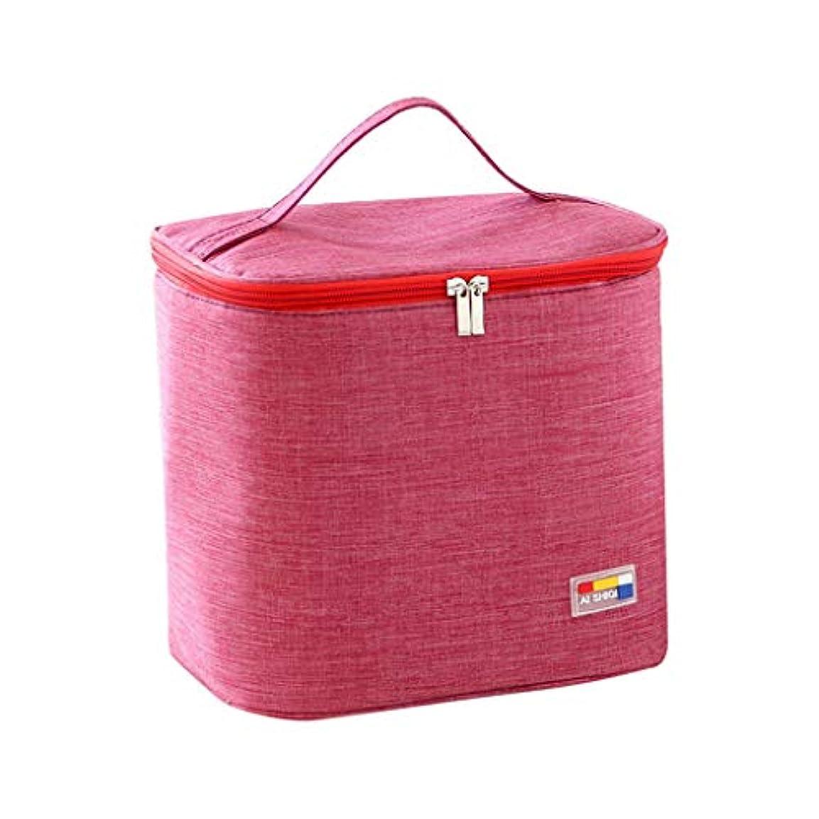無声でハシーアラーム専用ランチバッグトートバッグ断熱性を向上キャンプに適していますシンプルなバッグイージーファッション絶縁バッグ冷蔵バッグポケットを描く冷却ハンドバッグ防水ハンドバッグ (A)