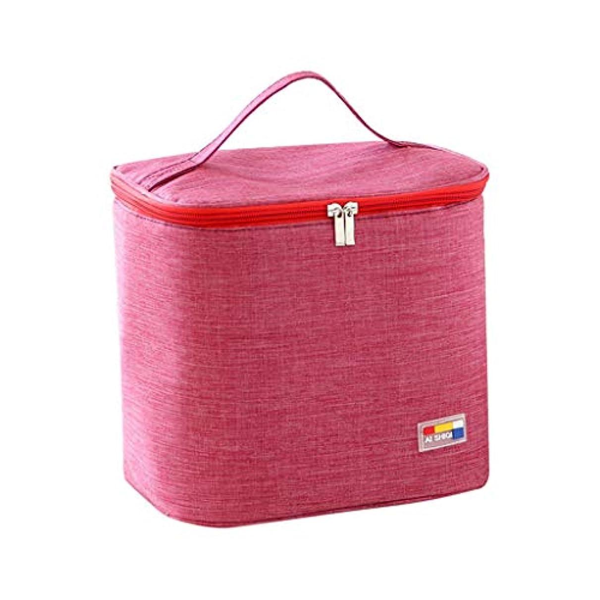 厚くするも動かない専用ランチバッグトートバッグ断熱性を向上キャンプに適していますシンプルなバッグイージーファッション絶縁バッグ冷蔵バッグポケットを描く冷却ハンドバッグ防水ハンドバッグ (A)