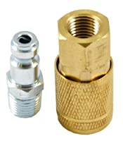 Forney 75519 Air Fitting Male Plug and Female Coupler Set Tru Flate Style 1/4-Inch-by-1/4-Inch [並行輸入品]