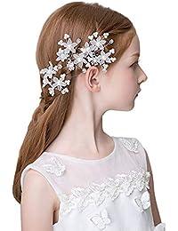 CIKINUO髪飾り フォーマル Uピン 5個 子供 フラワーガール キッズ (XH)