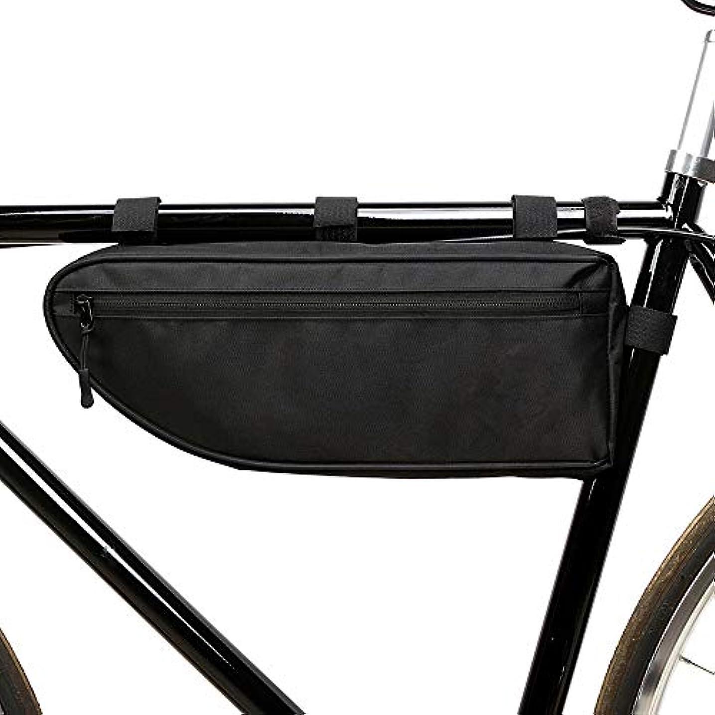 ベーリング海峡男やもめあえて自転車トライアングルフレームバッグ、大容量スポーツ自転車自転車収納バッグトライアングルサドルフレームストラップオンポーチ用サイクリング,L