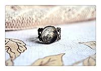 満月調節可能なリング、アンティークブロンズ