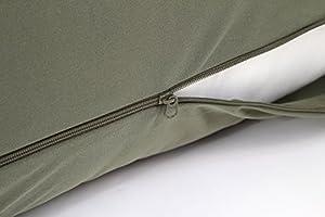 【日本製】 オリジナル 抱き枕カバー オリーブグリーン 横ファスナー 160cm×50cm対応