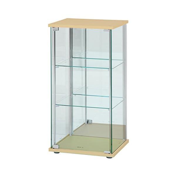 不二貿易 ガラスコレクションケース 3段 幅42...の商品画像