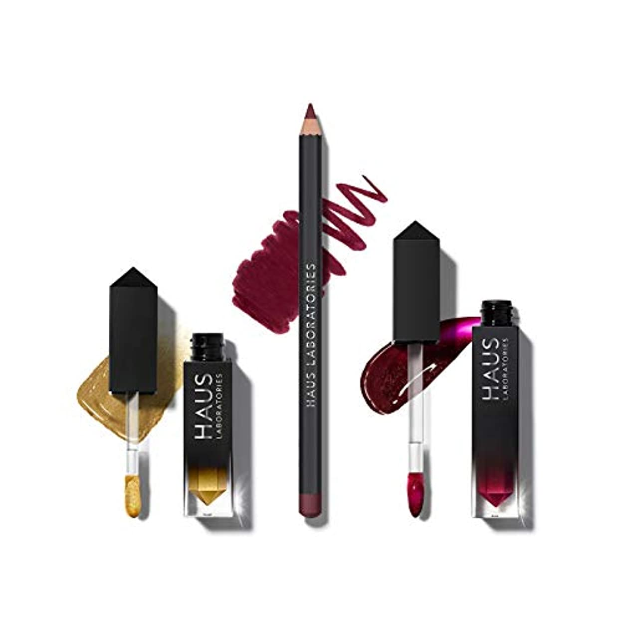 HAUS LABORATORIES HAUS of Collections 3点セット All-Over Color, Lip Gloss, Lip Liner (HAUS of Rockstar)