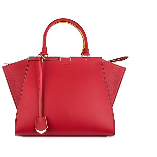 Fendi レディース borsa donna a mano shopping in pelle nuova 3jours カラー: レッド