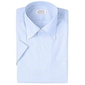 [フェアファクス] カラミ織りワンピースBD半袖シャツ メンズ 8301 サックス 日本 L (日本サイズL相当)