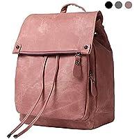 FLORICA Women Backpack Waterproof Anti-theft Lightweight PU Leather Nylon School Shoulder Bag Travel Backpack Girls Ladies