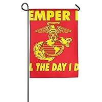 USMC海兵隊春ポーチヤードハウスガーデンフラグポリエステル繊維装飾的な12×18インチ