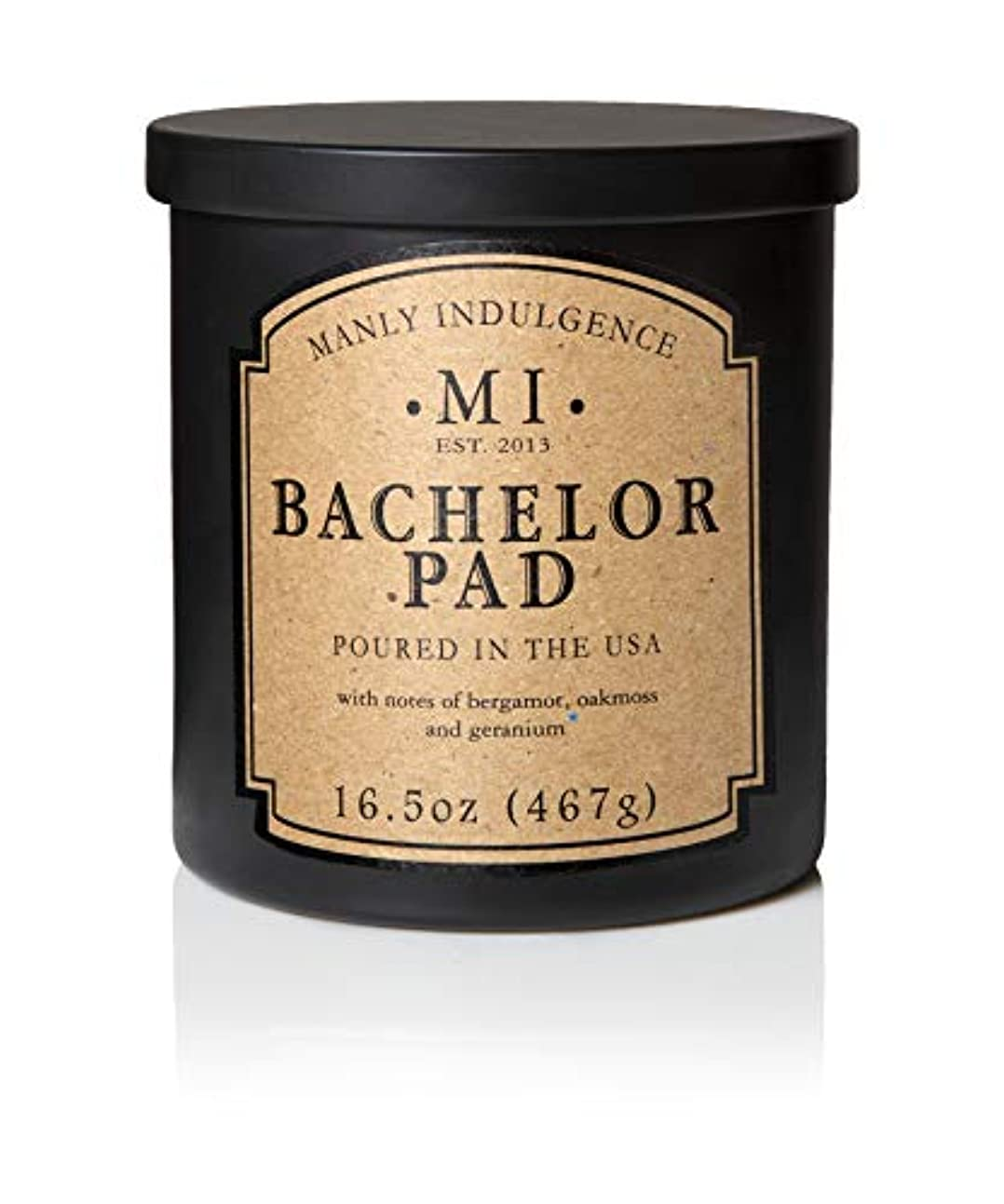 種シリンダーエレガントManly Indulgence Bachelor Pad Scented Candle - 1 Wick - 16.5 Oz. by Decoware