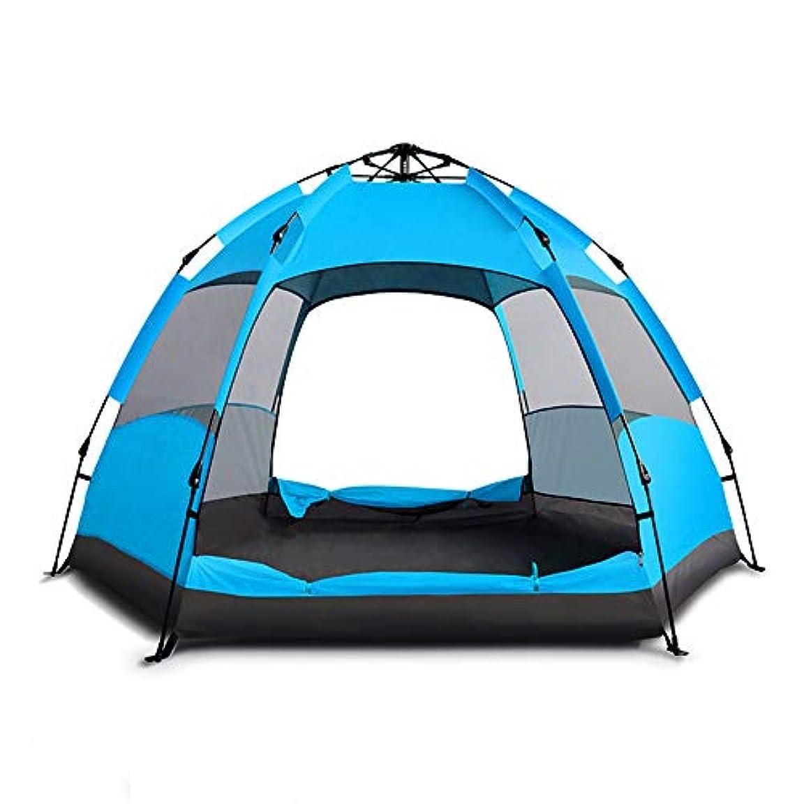 小麦粉証明コマース超大型ポップアップキャンプテント5?7人自動オープニング六角油圧二重層テント100%防水簡単セットアップ,A