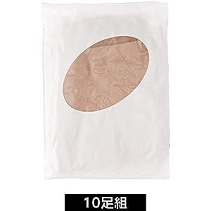 (セシール)cecile パンティストッキング・10足組(ミディアムサポートタイプ) PR-288 4 シルクベージュ M-L