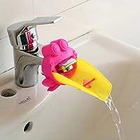 手洗いサポート 可愛い ベビ手洗い補助 赤ちゃんの手洗い浴室のカエル デザイン 洗面所パーツ 2色選べる(グリーン、ピンク)