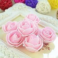 FidgetGear 結婚式の家のデコのための卸売3cmのPEの泡ローズの花の頭部の人工DIY ライトピンク