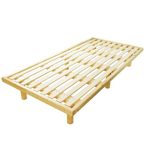 すのこベッド バノン シングル 高さ調節可能 天然無垢材使用 スノコ シ/ナチュラル