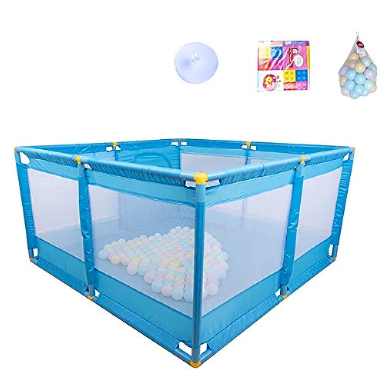 BSNOWF-ベビーサークル 赤ちゃんフェンス折り畳み式ベビープレイ劇場Playmatポータブル屋内屋外セーフティアクティビティエリア青い幼児のディバイダー