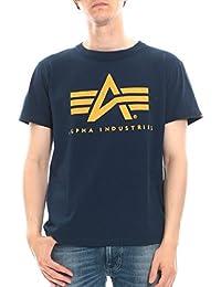 (アルファ インダストリーズ) ALPHA INDUSTRIES INC 綿100% ロゴプリント クルーネック 半袖 Tシャツ
