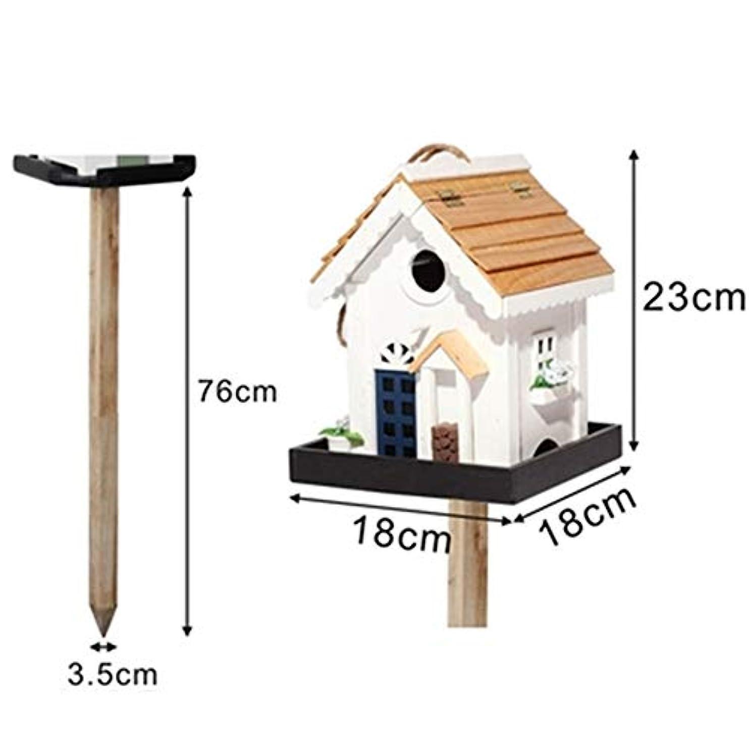 ムスタチオより多い規模鳥の巣 クリエイティブコートヤードガーデンヴィラ巣箱小さな巣箱巣箱デコレーション屋外木製バードフィーダー クラシックで軽量なデザイン (色 : 白, Size : Free size)