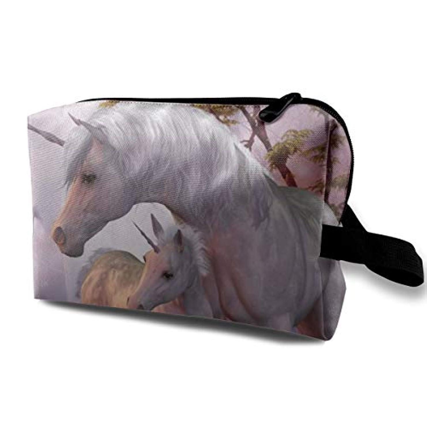 マークされたジェスチャートリップFantasy Unicorn 収納ポーチ 化粧ポーチ 大容量 軽量 耐久性 ハンドル付持ち運び便利。入れ 自宅?出張?旅行?アウトドア撮影などに対応。メンズ レディース トラベルグッズ