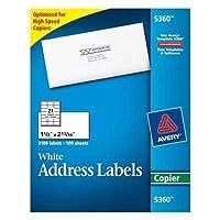 avery copier mailing labels 1 1 2 x 2 13 16 white 2100 box 並行輸入