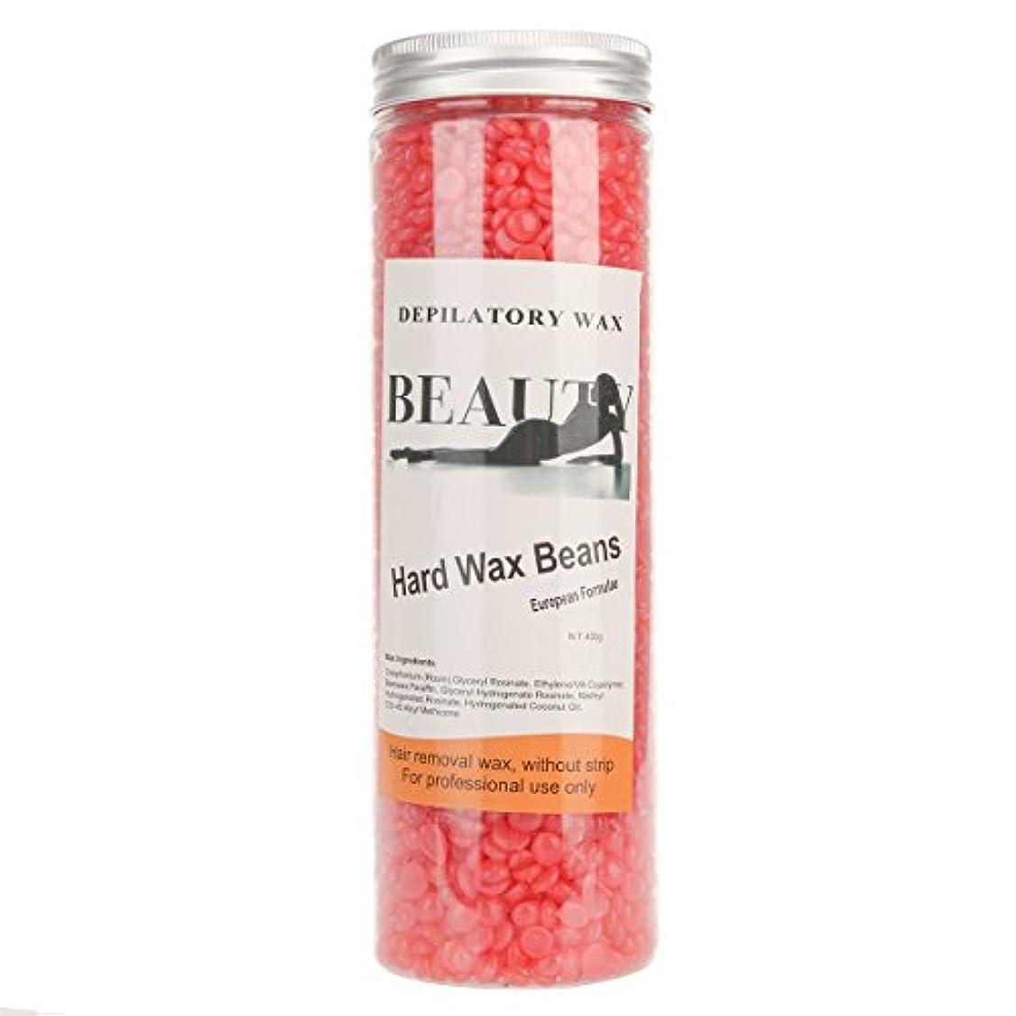 挽くネブぎこちない(アーニェメイ)Bonjanvy ハードワックスキット 400g 1缶 ブラジリアンワックス デリケートゾーン 鼻毛 脱毛ワックス-イチゴ