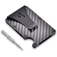 Carbon Fiber Wallet - RFID Minimalist Wallet for Men - Slim Cash Money Clip up to 12 Cards