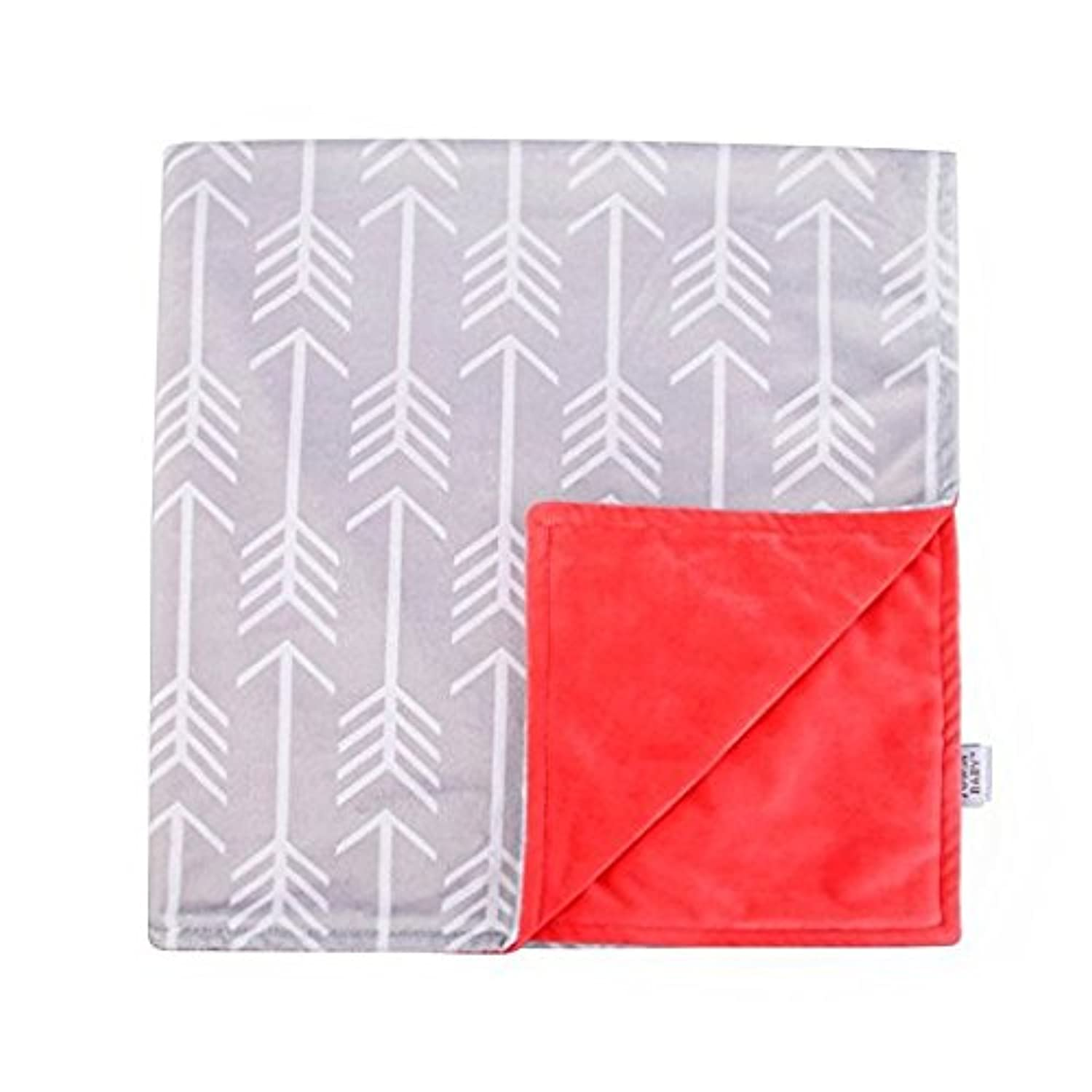 Towin Baby Arrow Minky Receiving Blanket, Coral 30x30 by TOWIN BABY