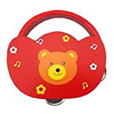TambourineドラムベルPercussion Instrument Musical Toy for KTVパーティー子供ゲーム、# e5