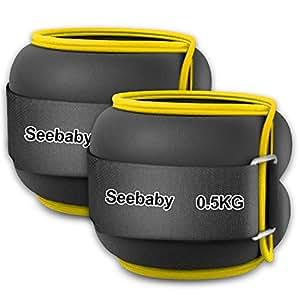 【重さ調節可能】アンクルウェイト 2個組 Seebaby 0.5kg 1kg 1.5kg 2kg 2.5kg 3kg 手足両用 洗濯可 ウォーキング ダイエット エクササイズ 体幹トレーニング