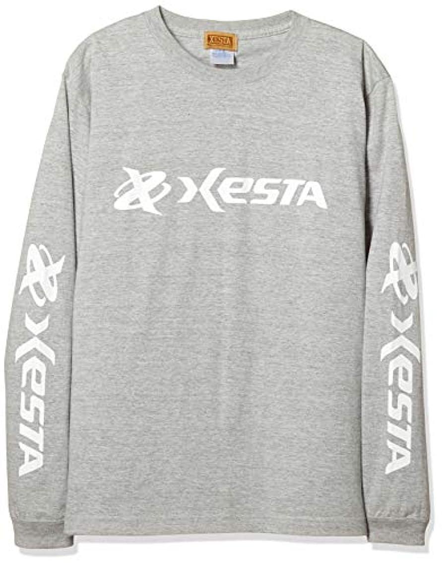 回転するありそうコンチネンタルゼスタ(XESTA) ロングスリーブ Tシャツ (オリジナルロゴ) グレー M