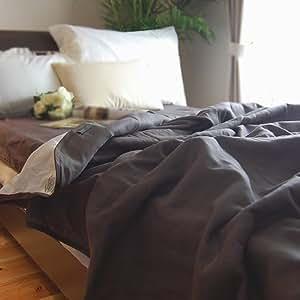 松並木 肌に優しい 無添加【Nuddy Cotton】(R) ベージュ&ブラウン 5重 ガーゼケット * ダブル サイズ 190×210cm 綿100% 吸汗速乾 丸洗いOK タオルケット 日本製 ショコラブラウン